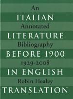 Italian Literature Before 1900 in English Translation