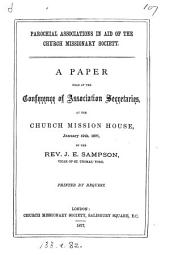 Parochial associations in aid of the Church missionary society, a paper