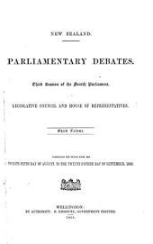 Parliamentary Debates: Legislative Council and House of Representatives, Volume 3