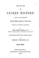 Manual of Sacred History  a guide to the understanding of the Divine plan of salvation     Translated from the sixth German edition by C  F  Schaeffer     Second edition PDF