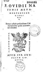 P. Ovidii Nasonis Metamorphoseon libri quindecim