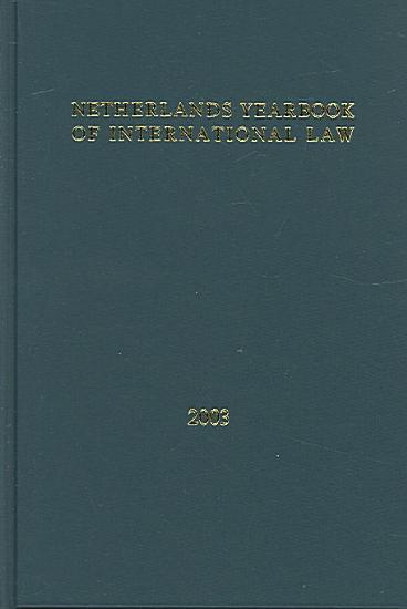 Netherlands Yearbook of International Law   2003 PDF