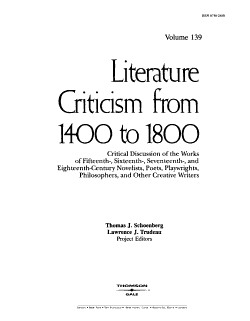 Literature Criticism from 1400 to 1800 PDF