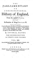 The Parliamentary Or Constitutional History of England from the Earliest Times to the Restoration of King Charles II PDF