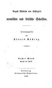 August Wilhelm von Schlegel's sämmtliche werke: Band 16