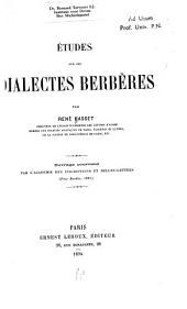 Études sur les dialectes berbères