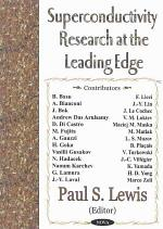 Superconductivity Research at the Leading Edge