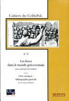 Les livres dans le monde gr  co romain PDF