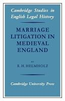 Marriage Litigation in Medieval England PDF