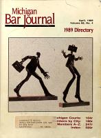 Michigan Bar Journal     Directory PDF