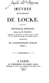 Oeuvres philosophiques de Locke: Volume2