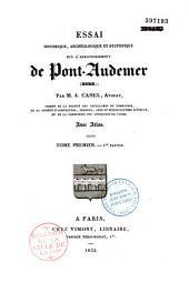 Essai historique, archéologique et statistique sur l'arrondissement de Pont-Audemer (Eure)