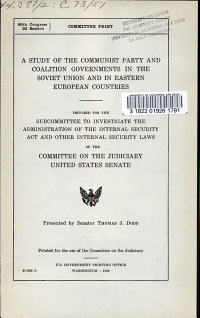 A Study of the Communist Party and Coalition Governments in the Soviet Union and in Eastern European Countries PDF
