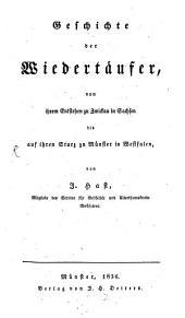 Geschichte der Wiedertäufer ...