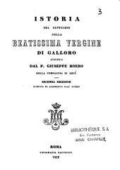 Istoria del santuario della beatissima Vergine di Galloro