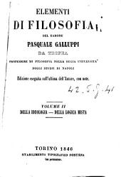 Elementi di filosofia del barone Pasquale Galluppi da Tropea: Della ideologia, Volume 2