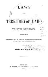 Laws of the Territory of Idaho