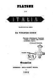 Platone in Italia traduzione dal greco da Vincenzo Cuoco