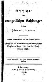 Geschichte der evangelischen Salzburger in den Jahren 1731, 32 und 33