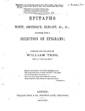 Epitaphs  Witty  Grotesque  Elegant