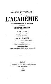 Séances et travaux de l'Académie des sciences morales et politiques, compte rendu: Volumes29à30