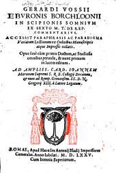 In Scipionis Somnium ex sexto M. T. Ciceronis de Rep. Commentarius