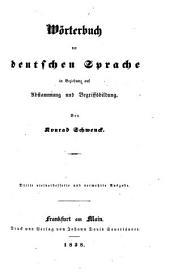 Wörterbuch der deutschen Sprache in Beziehung auf Abstammung und Begriffsbildung