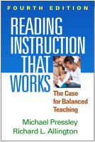 Reading Instruction That Works  Fourth Edition PDF
