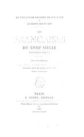 Les Françaises du XVIIIe siècles, portraits, gravés