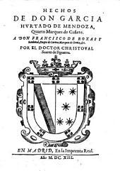 Hechos de Don Garcia Hurtado de Mendoza, quarto Marques de Canete
