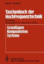 Taschenbuch der Hochfrequenztechnik: Ausgabe 4