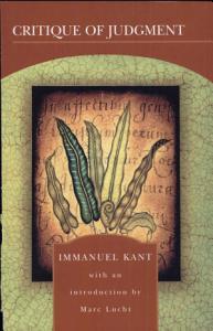 Critique of Judgment Book