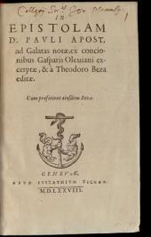 In epistolam Pauli ad Galatas notae