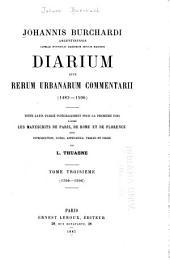 Capelle pontificie sacrorum rituum magistri diarium: sive Rerum urbanarum commentarii (1483-1506)