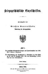 Kriegsgeschichtliche Einzelschriften: Heft 1-.