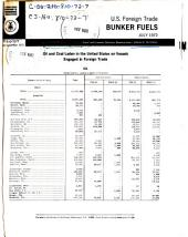 Bunker Fuels: Oil and Coal Laden in the United States on Vessels Engaged in Foreign Trade