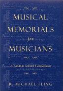 Musical Memorials for Musicians
