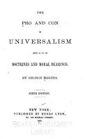 The Pro and Con of Universalism PDF