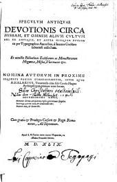 Speculum antiquae Devotionis circa missam