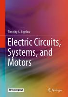 Electric Circuits  Systems  and Motors PDF