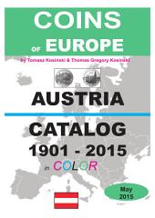 Coins of AUSTRIA 1901-2015: Coins of Europe Catalog 1901-2015