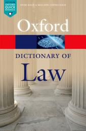 A Dictionary of Law: Edition 8
