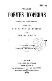 Quatre poèmes d'opéras