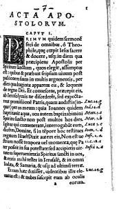 Biblia Sacrae Scripturae Veteris et Novi Testamenti: Acta, Volume 7
