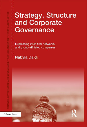 Strategy  Structure and Corporate Governance PDF