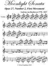 Moonlight Sonata Easy Violin Sheet Music