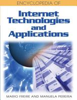Encyclopedia of Internet Technologies and Applications PDF