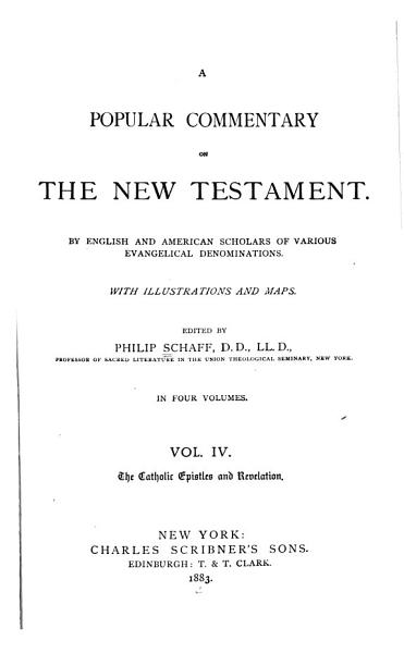 Download A Popular Commentary on the New Testament Book