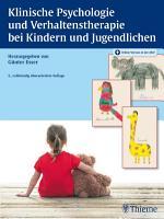 Klinische Psychologie und Verhaltenstherapie bei Kindern und Jugendlichen PDF