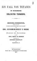 Ein Fall von Tetanus mit intercurrentem Delirium tremens PDF